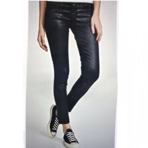 Vince LOLA Stovepipe Coated Skinny Jeans 25